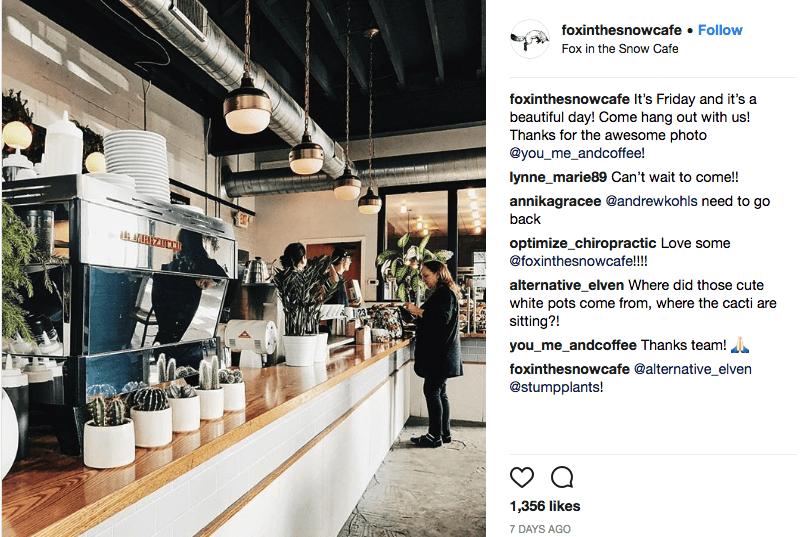 Comment impliquer les entreprises locales dans un post Instagram?