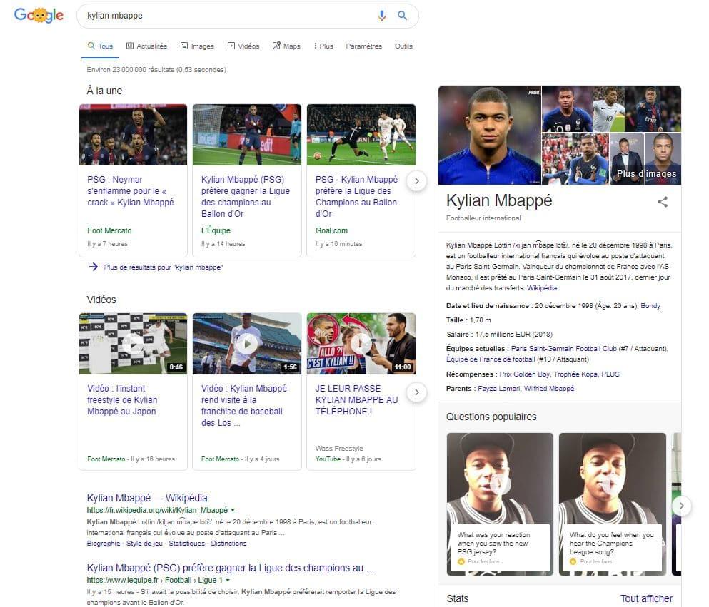 Que veut dire Search Engine Results Page ?