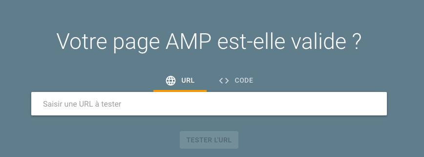 Quel tool pour tester la validité d'une page AMP ?