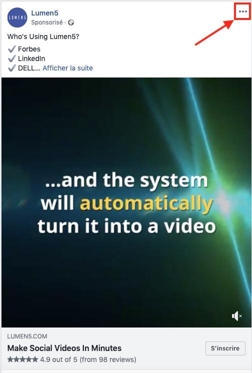 Facebook Ads pourquoi je vois cette publicité ?