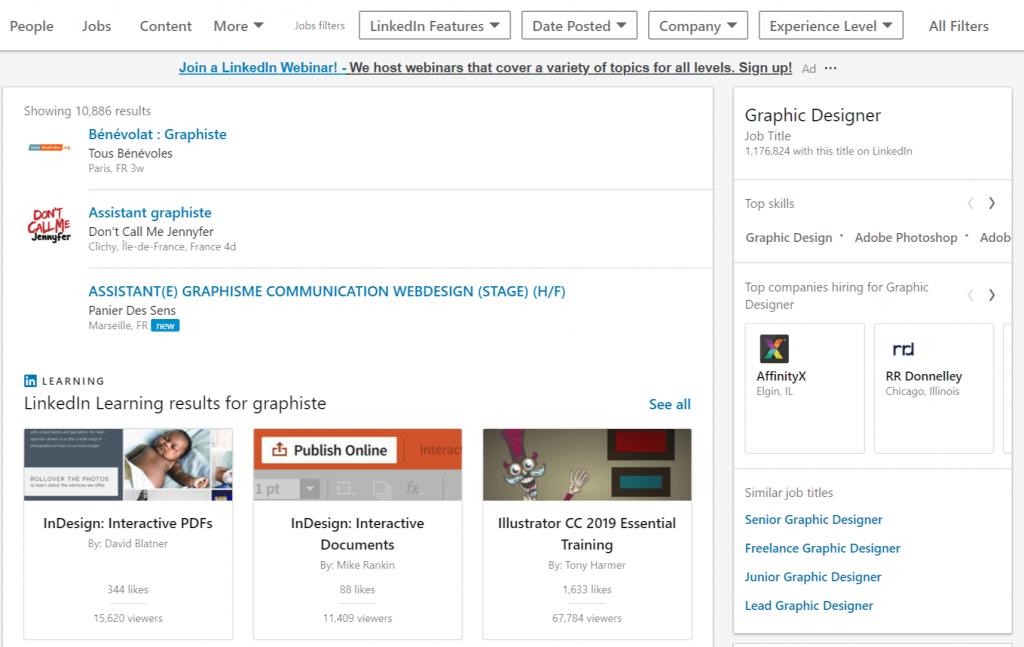Comment trouver un travail sur LinkedIn ?