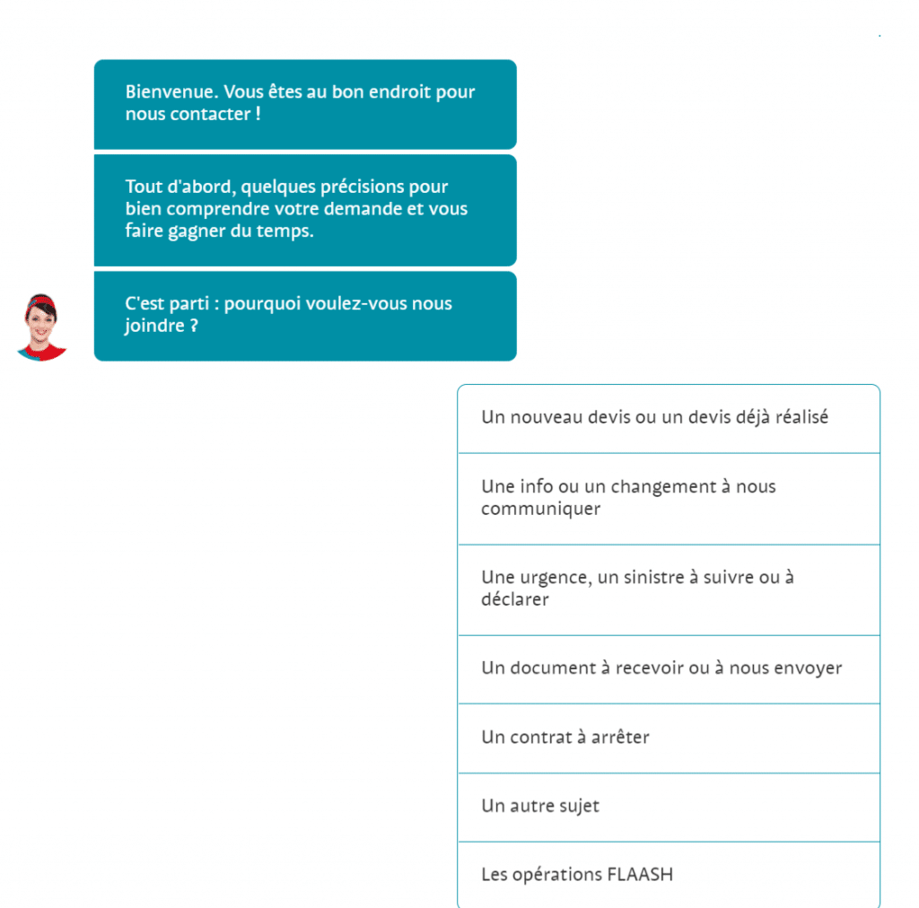 Assurance et chatbot